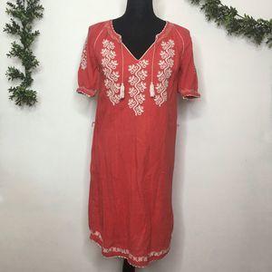 Ulla Johnson Red Embroidered Boho Dress